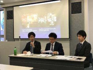 (左:河合哲志弁護士、中央:飯田明弘弁護士、右:家田真吾弁護士)